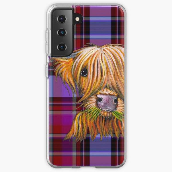SCoTTiSH HiGHLaND CoW ' TaRTaN LiTTLe ViKiNG P ' by SHiRLeY MacARTHuR Samsung Galaxy Soft Case