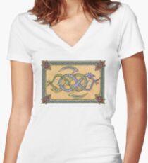 Celtic Infinity Dragons Women's Fitted V-Neck T-Shirt