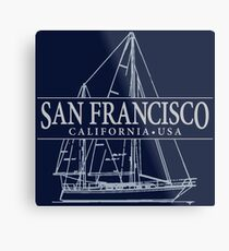 San Francisco Sailing Metal Print