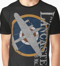 Avro Lancaster WWII Bomber RAF Roundel Design Graphic T-Shirt