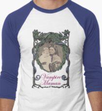 Victorian Vampire Maman with Baby Men's Baseball ¾ T-Shirt