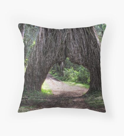 Big Tree Arch Throw Pillow