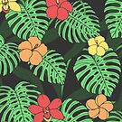 Tropical Floral Pattern by Anastasia Shemetova