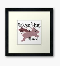 IT Crowd Inspired - My Trouser Hams Are Not For Sale Sir - Roy Bum Kiss - Brit Comedy - Humor - Nerd - Geek Framed Print