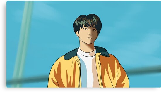Bts Jungkook Euphoria Canvas Prints By Mariannedraws Redbubble