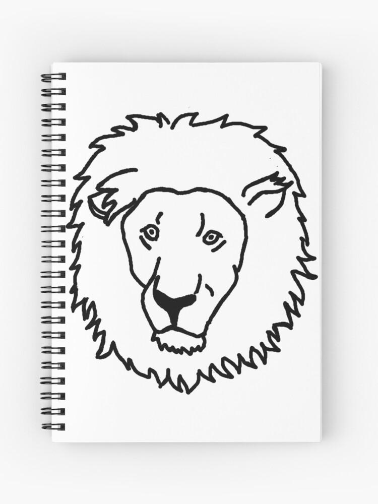 Cuaderno De Espiral Leon Dibujos Animados Dibujo De Nijess