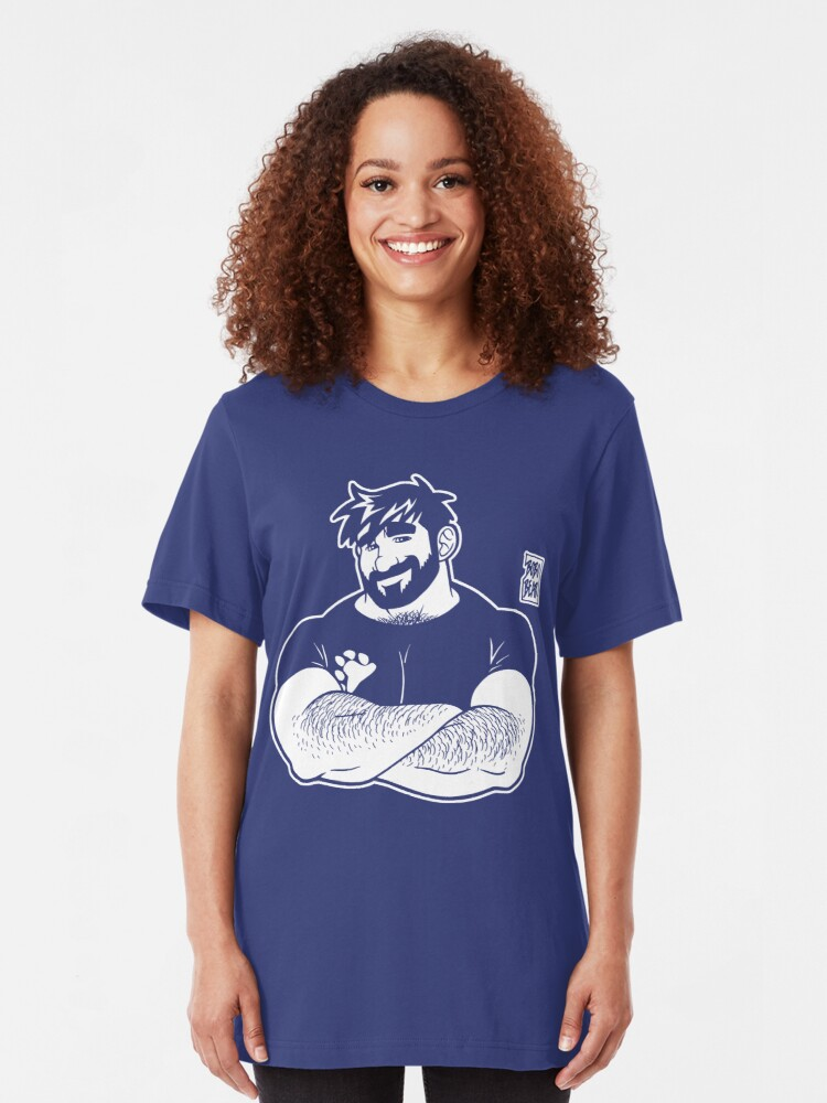 Alternate view of ADAM LIKES CROSSING ARMS - LINEART Slim Fit T-Shirt
