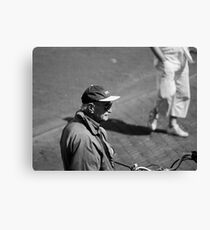 Man With Cap Canvas Print