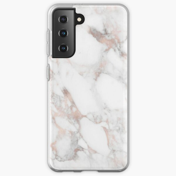 Luxury Rose-gold faux marble Samsung Galaxy Soft Case