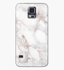 Luxus-Rotgold-Imitat-Marmor Hülle & Klebefolie für Samsung Galaxy