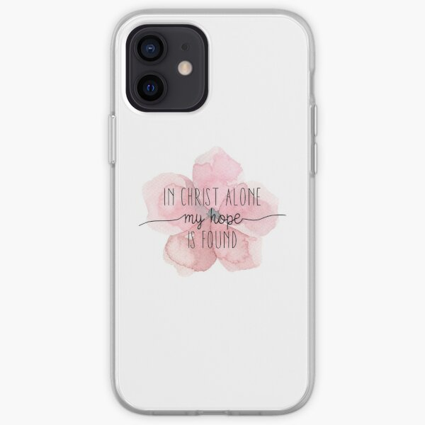 Christian Quote Watercolor Flower iPhone Soft Case