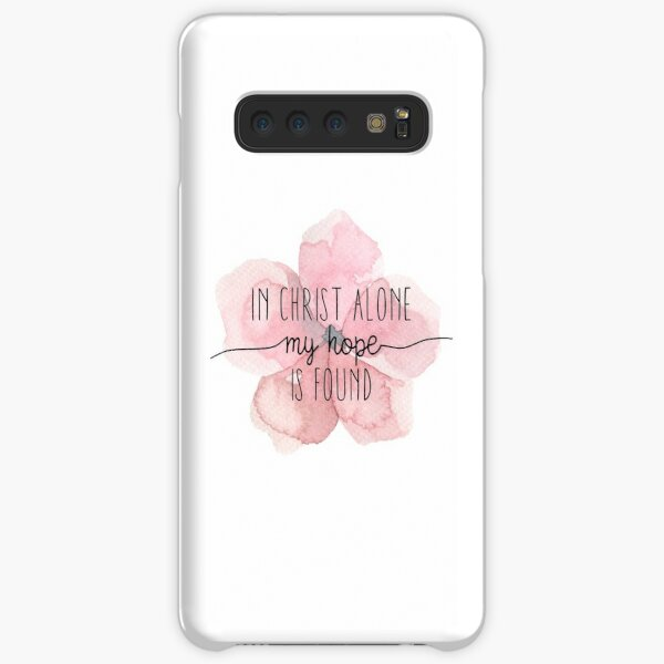 Christian Quote Watercolor Flower Samsung Galaxy Snap Case