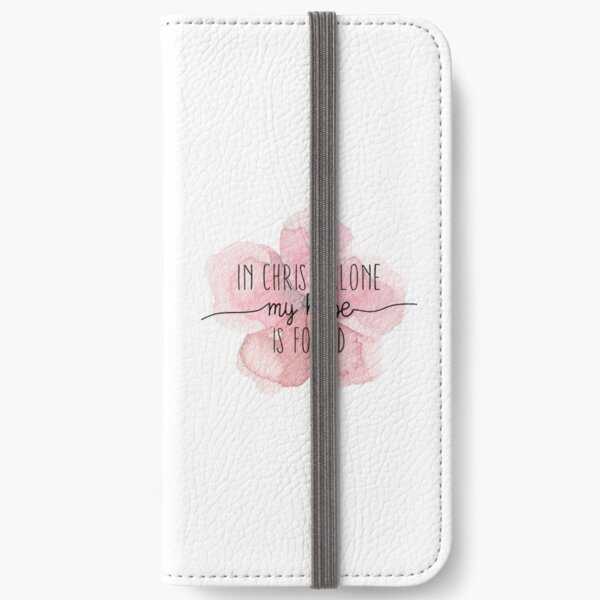 Christian Quote Watercolor Flower iPhone Wallet