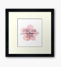 Christian Quote Watercolor Flower Framed Print