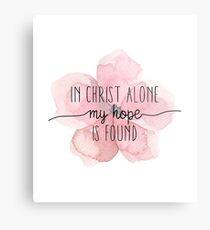 Christian Quote Watercolor Flower Metal Print