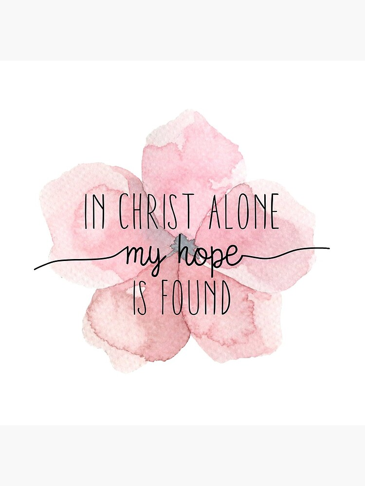 Christian Quote Watercolor Flower by walk-by-faith