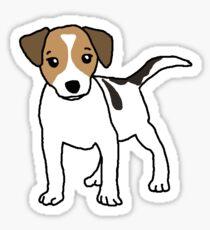 Dog, Jack Russell, Comic Sticker