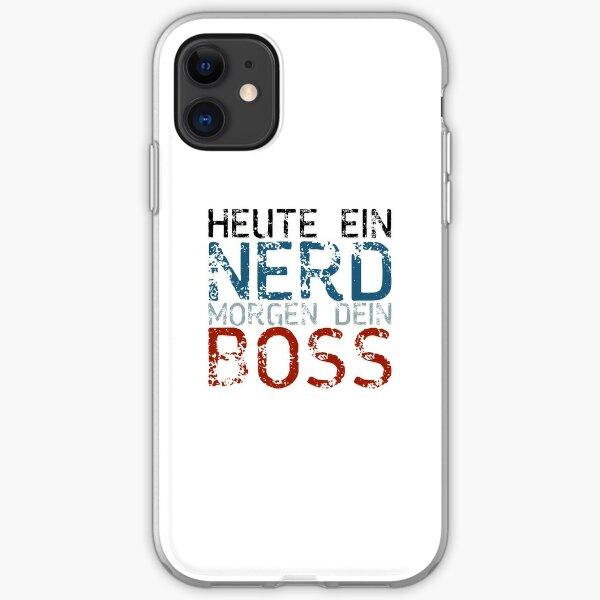 Heute ein Nerd, morgen dein Boss auf deutsch iPhone Flexible Hülle