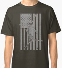 CH-47 Chinook Helicopter Vintage Flag Design Classic T-Shirt