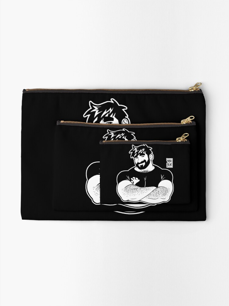 Alternate view of ADAM LIKES CROSSING ARMS - LINEART Zipper Pouch