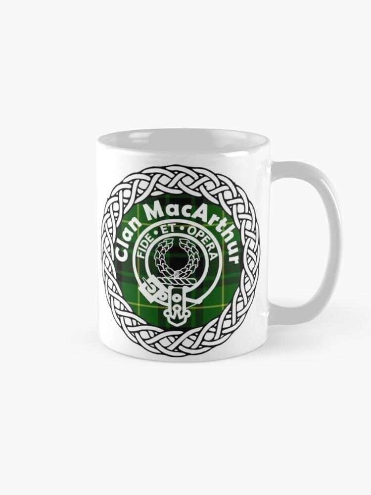 MacArthur Scottish Clan surname last name tartan crest badge | Mugs