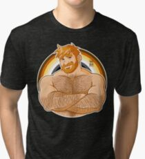 ADAM LIKES CROSSING ARMS - BEAR PRIDE - GINGER EDITION Tri-blend T-Shirt