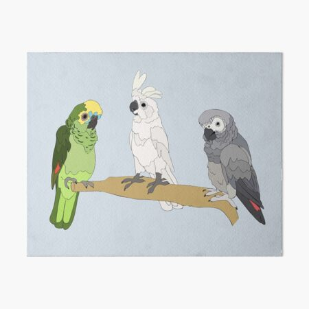 Larry, Chick Chick and Vito Art Board Print