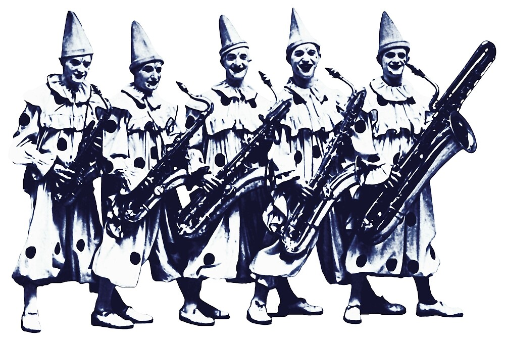 1920 Jazz Clowns by historicimage
