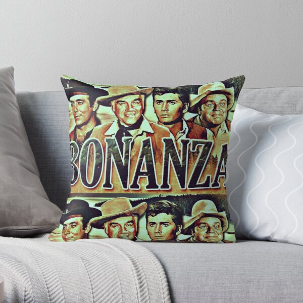 The Cartwrights from Bonanza Throw Pillow