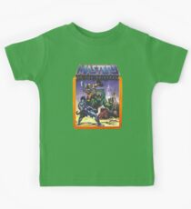 He-Man Masters of the Universe Battle Scene with Skeletor Kids T-Shirt