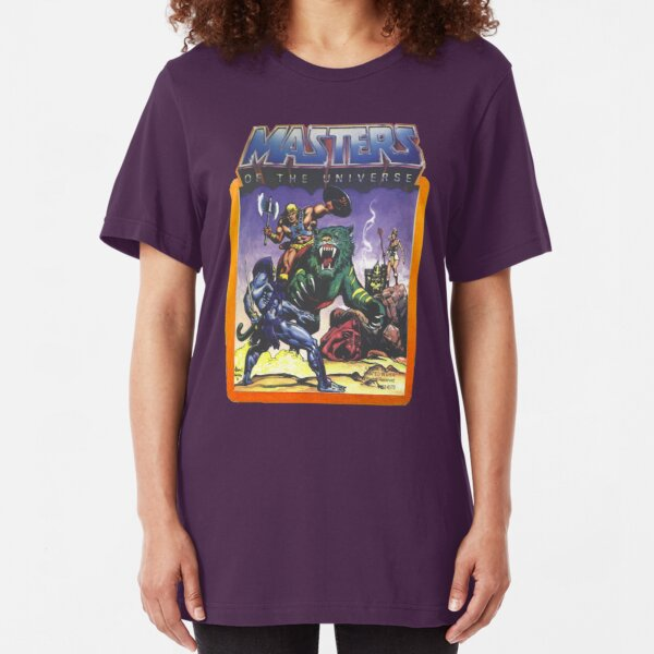 He-Man Masters of the Universe Battle Scene with Skeletor Slim Fit T-Shirt