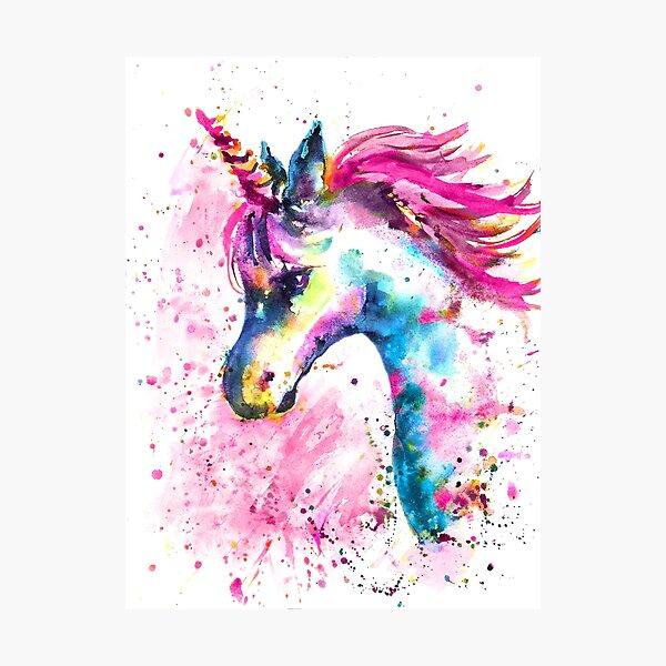 Pink Unicorn Photographic Print