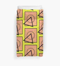 90s Squiggle Shape Pattern (Electric Yellow) Duvet Cover