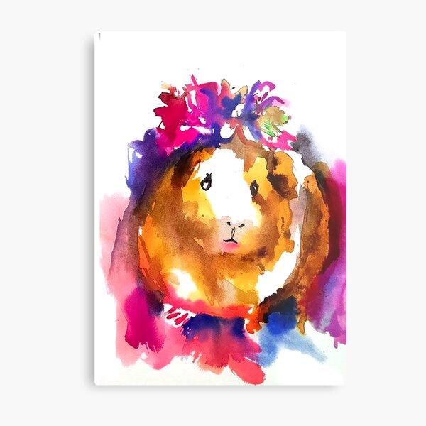 Guinea Pig in the Spring Metal Print