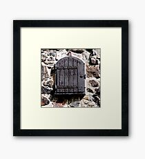 shutters up Framed Print