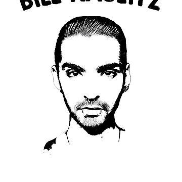 Bill Kaulitz Portrait (Black & White, black) by eileendiaries