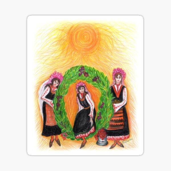 Eniovden, Midsummer's Day, Ceremony Sticker
