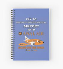 Fly to Quahog International Airport wth Anal Air Spiral Notebook