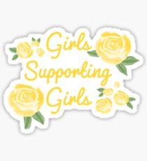 Mädchen, die Mädchen unterstützen Sticker