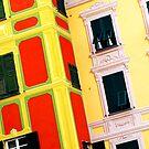 Portofino windows, Northern Italy by Tamara Travers