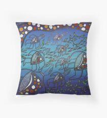 Aboriginal Turtle Journey Throw Pillow