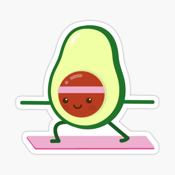 avocado yoga Sticker