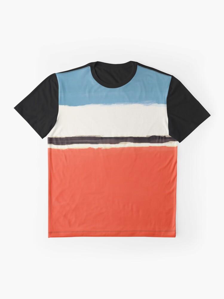 Alternative Ansicht von Weiße Mitte Grafik T-Shirt
