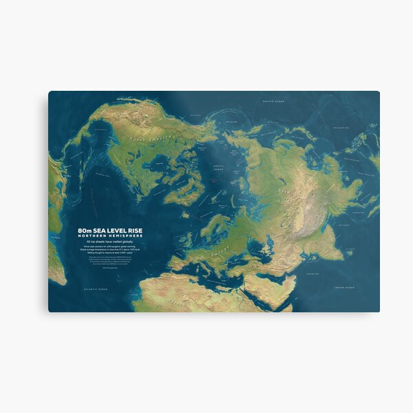 Northern Hemisphere Sea Level Rise Metal Print