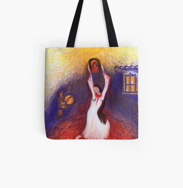 Firedancer All Over Print Tote Bag
