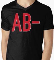 AB- Blood Type Men's V-Neck T-Shirt