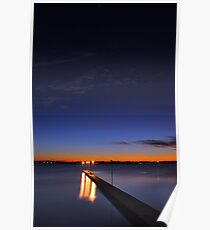 Como Jetty At Dusk  Poster