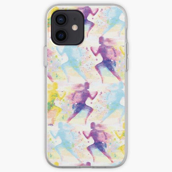 Watercolor women runner pattern iPhone Soft Case