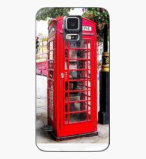 Red Phone Booth, London England Case/Skin for Samsung Galaxy