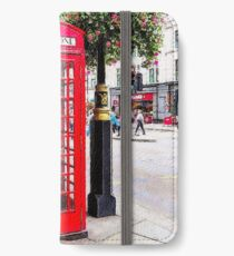 Red Phone Booth, London England iPhone Wallet/Case/Skin